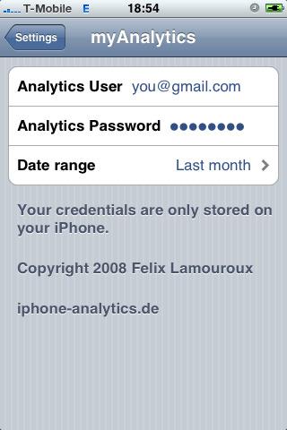 MyAnalytics: Google Analytics on iPhone – MyXcelsius Com