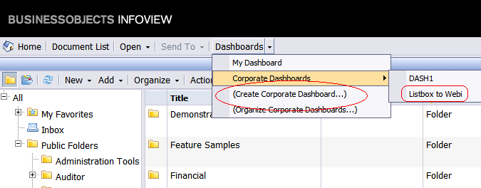 Create or edit the dashboard