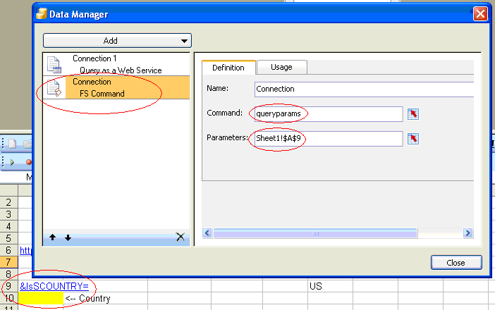 Use FS Command to integrate Xcelsius with Crystal Reports