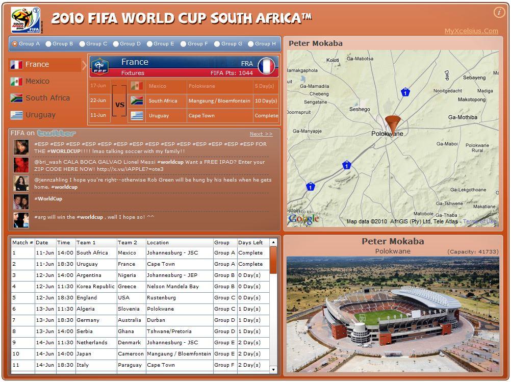 Xcelsius FIFA Match Finder