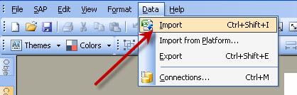 Xcelsius Data Import