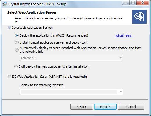 Web Application Server selection