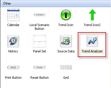 Selecting the Trend Analyzer Component
