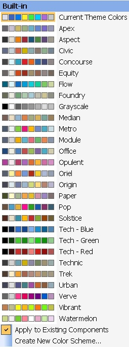 Built-in Color Schemes